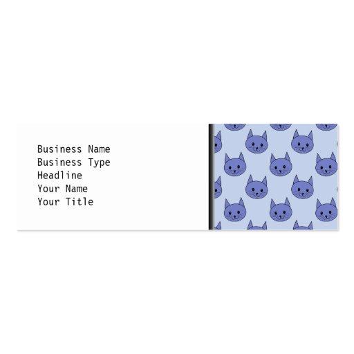 Modelo lindo del gato. Azul Tarjetas De Visita Mini