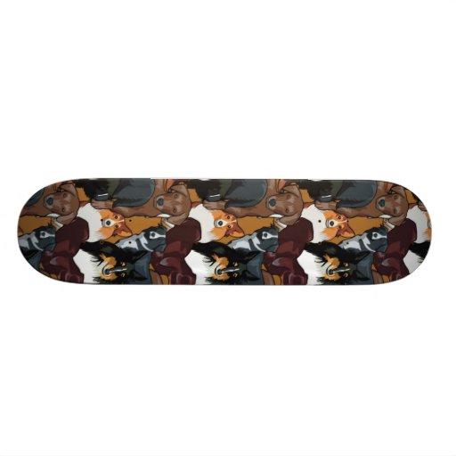 Modelo lindo del perro de perrito tabla de patinar