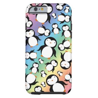 Modelo lindo del pingüino del arco iris funda resistente iPhone 6