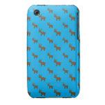 Modelo lindo del reno del azul de cielo iPhone 3 Case-Mate cárcasa