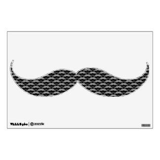 Modelo lindo divertido de los bigotes del grayscal vinilo