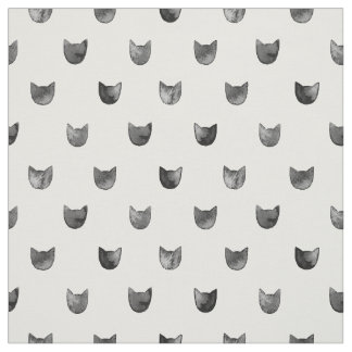 Modelo lindo elegante blanco y negro del gato telas