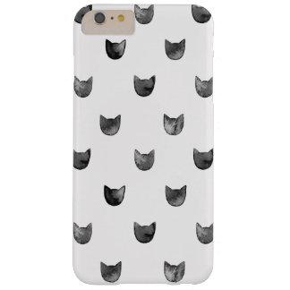 Modelo lindo elegante femenino del gato funda de iPhone 6 plus barely there