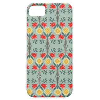 Modelo lindo elegante rústico floral del fairisle iPhone 5 carcasa