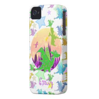 Modelo lindo Emily conocida adaptable de los drago iPhone 4 Carcasas