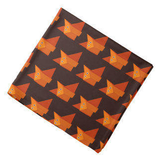 Modelo lindo oscuro del Fox de Origami Bandanas