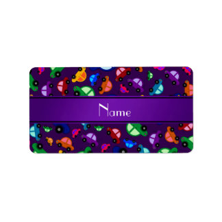 Modelo lindo púrpura conocido personalizado del co