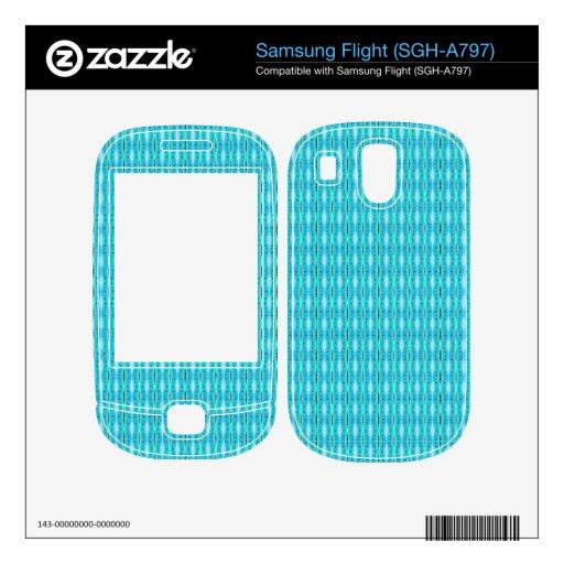 modelo lindo simple del blanco de la turquesa calcomanía para samsung flight