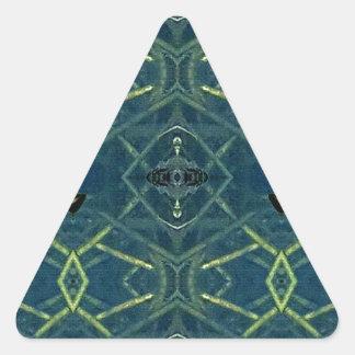 Modelo linear azul masculino pegatina triangular