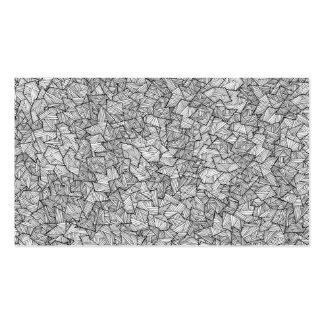 Modelo linear geométrico dibujado mano artsy del tarjetas de visita