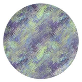 Modelo líquido azul de Tanzanite Plato De Cena