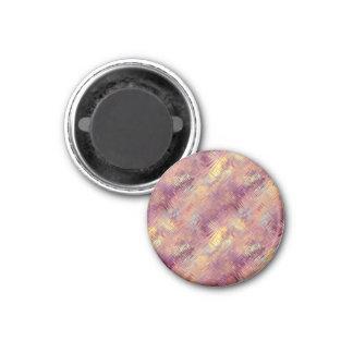 Modelo líquido rojo de rubíes imán redondo 3 cm