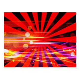 Modelo loco abstracto de la explosión de la tarjeta postal