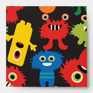 Modelo loco colorido de las criaturas de los monst sobre