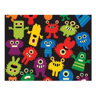 Modelo loco colorido de las criaturas de los tarjetas postales