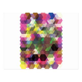 Modelo loco de la forma del color del polígono de tarjetas postales
