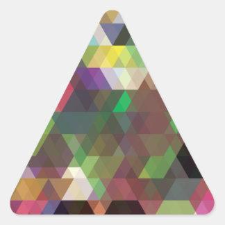 Modelo loco de la forma del color del polígono pegatina triangular