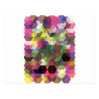 Modelo loco de la forma del color del polígono postal