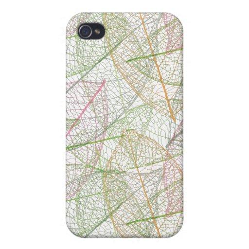 modelo loco de las hojas para su caso del iphone iPhone 4 protector