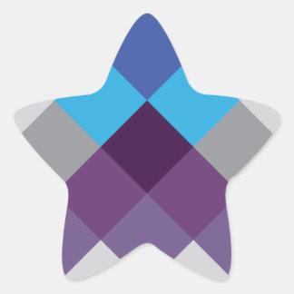 Modelo loco del círculo cuadrado multi de Wellcoda Pegatina En Forma De Estrella