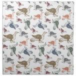 Modelo loco lindo del pájaro - vigilante de pájaro servilletas de papel