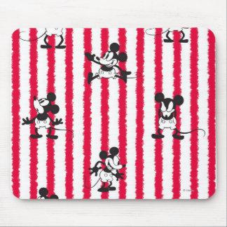 Modelo loco plano de Mickey Mouse el   Alfombrillas De Ratones