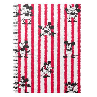 Modelo loco plano de Mickey Mouse el   Cuaderno