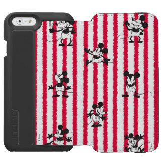 Modelo loco plano de Mickey Mouse el   Funda Billetera Para iPhone 6 Watson