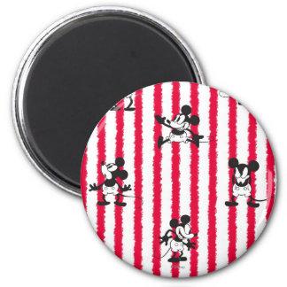 Modelo loco plano de Mickey Mouse el   Imán Redondo 5 Cm