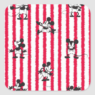 Modelo loco plano de Mickey Mouse el | Pegatina Cuadrada