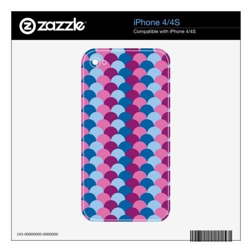 Modelo magenta y azul rosado de la escala iPhone 4S skin