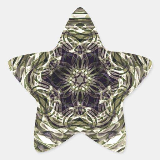 Modelo mágico medieval pegatinas forma de estrellaes