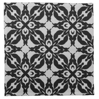 Modelo magnífico del damasco del gótico servilletas de papel