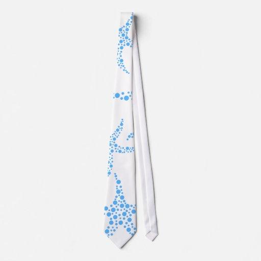 Modelo manchado de las estrellas de mar en azul y  corbatas