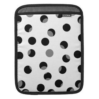 Modelo manchado del negro, blanco y gris manga de iPad
