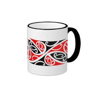 Modelo maorí 1 de Kowhaiwhai - taza