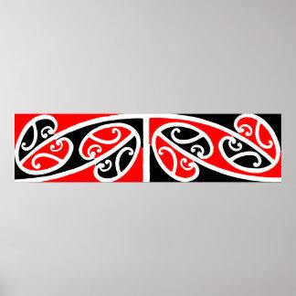 Modelo maorí 2 de Kowhaiwhai - poster