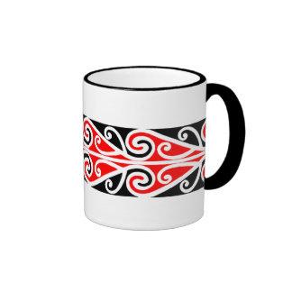 Modelo maorí 5 de Kowhaiwhai - taza