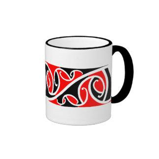 Modelo maorí 6 de Kowhaiwhai Tazas De Café