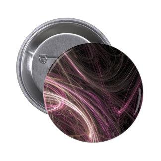 Modelo maravilloso de Starburst del flujo rosado d Pin Redondo 5 Cm