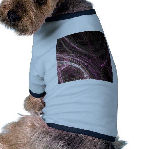 Modelo maravilloso de Starburst del flujo rosado d Camiseta Con Mangas Para Perro