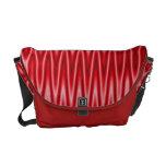 Modelo maravilloso rojo brillante bolsas messenger