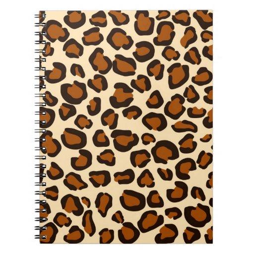 Modelo marrón animal del guepardo cuadernos