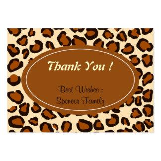 Modelo marrón animal del guepardo tarjeta de visita