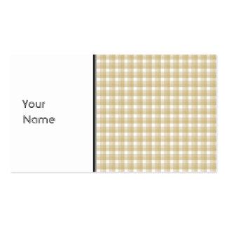 Modelo marrón claro del control. Guinga beige Tarjetas De Visita