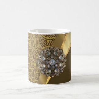 Modelo marrón de oro del remolino tazas de café