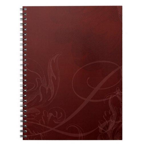 Modelo marrón del amor libros de apuntes con espiral