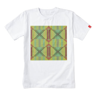 Modelo marrón verde tribal playera zazzle HEART