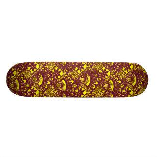 Modelo marrón y amarillo elegante del damasco del tabla de skate