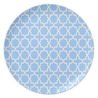 Modelo marroquí; Azul de cielo Platos